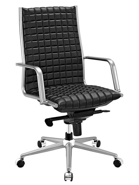 stock high back office chair black