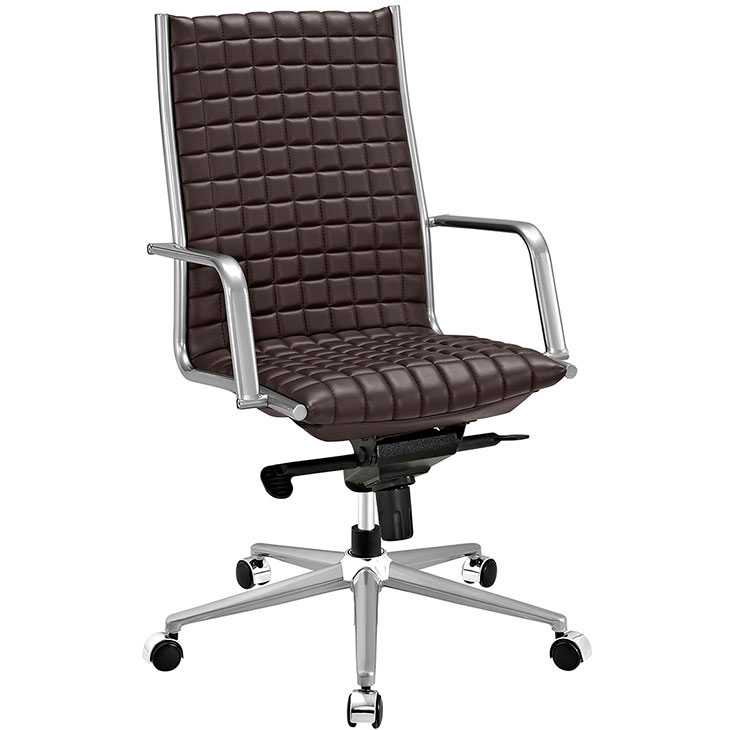 stock high back office chair brown 1