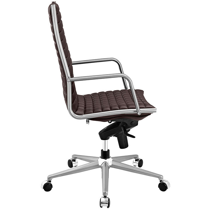 stock high back office chair brown 2
