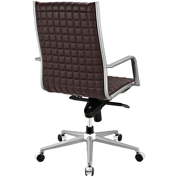 stock high back office chair brown 3