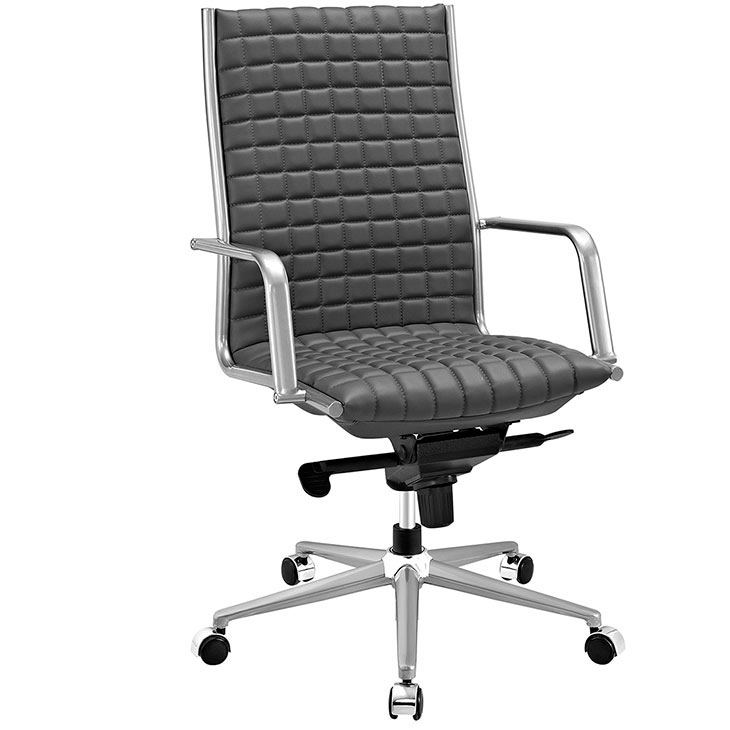 stock high back office chair gray 1