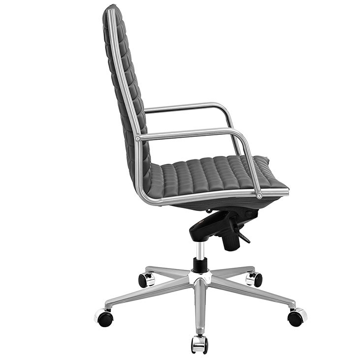 stock high back office chair gray 2