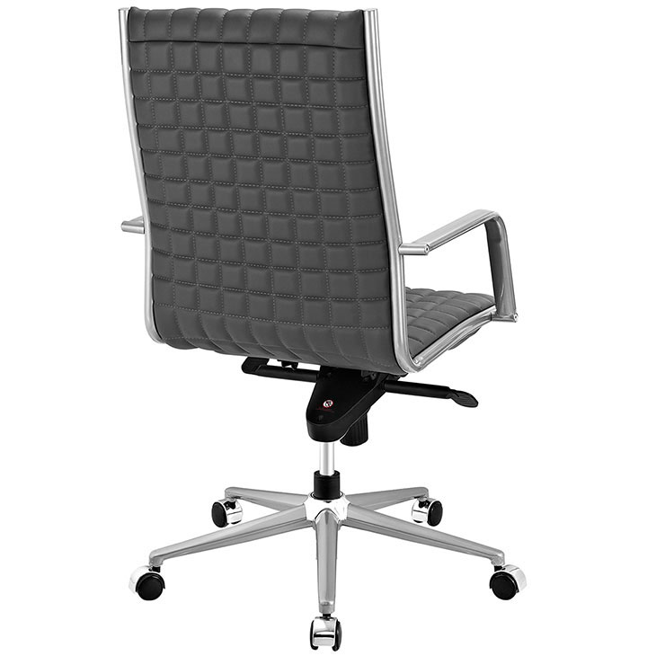 stock high back office chair gray 3