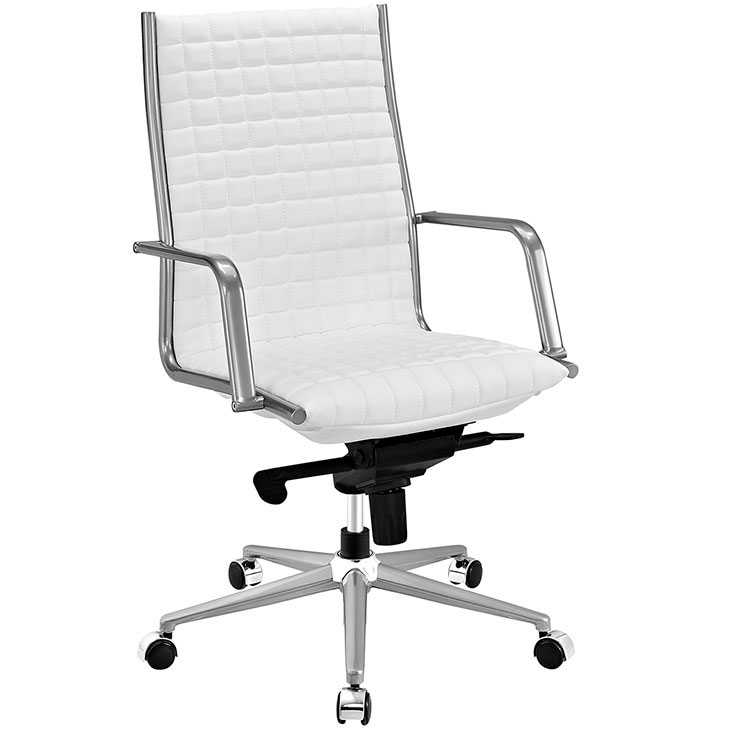 stock high back office chair white 1
