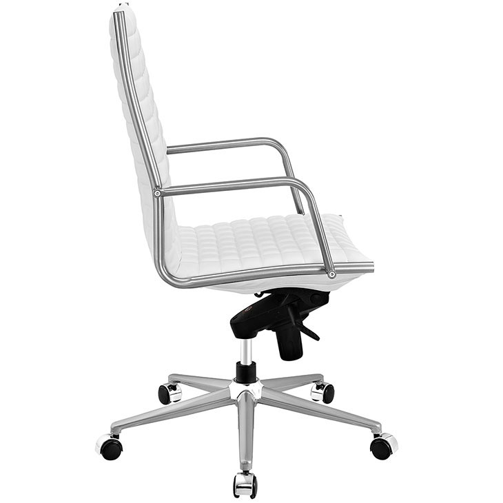 stock high back office chair white 2