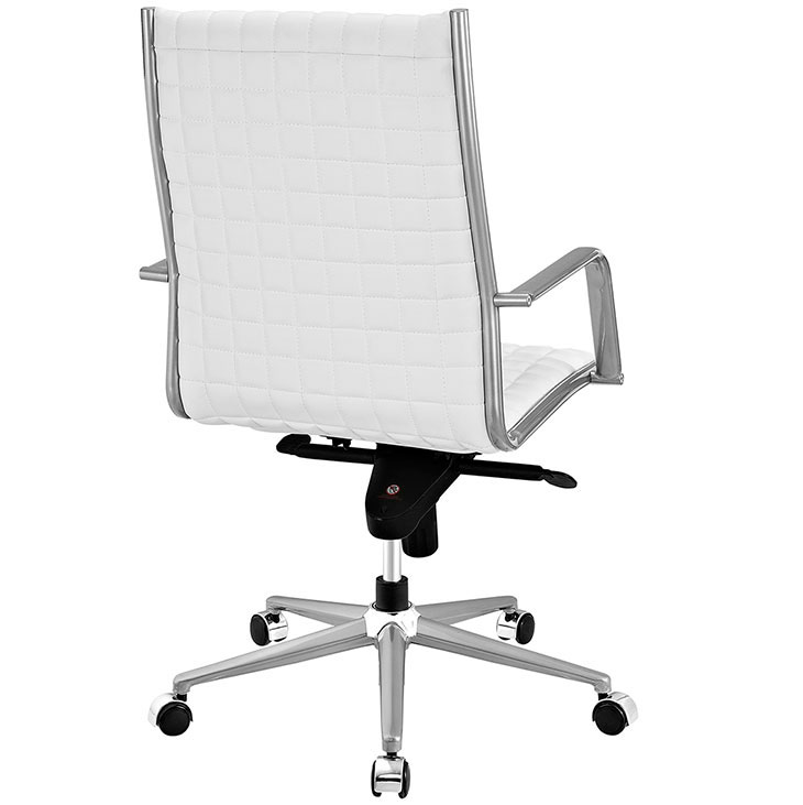 stock high back office chair white 3