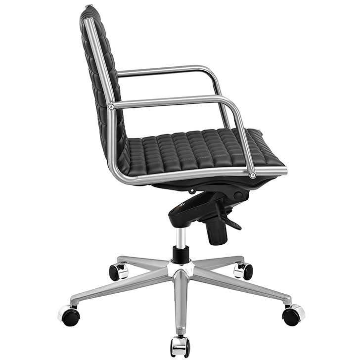 stock mid back office chair black 2