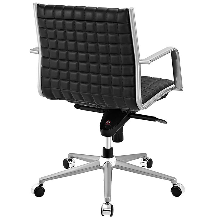 stock mid back office chair black 3