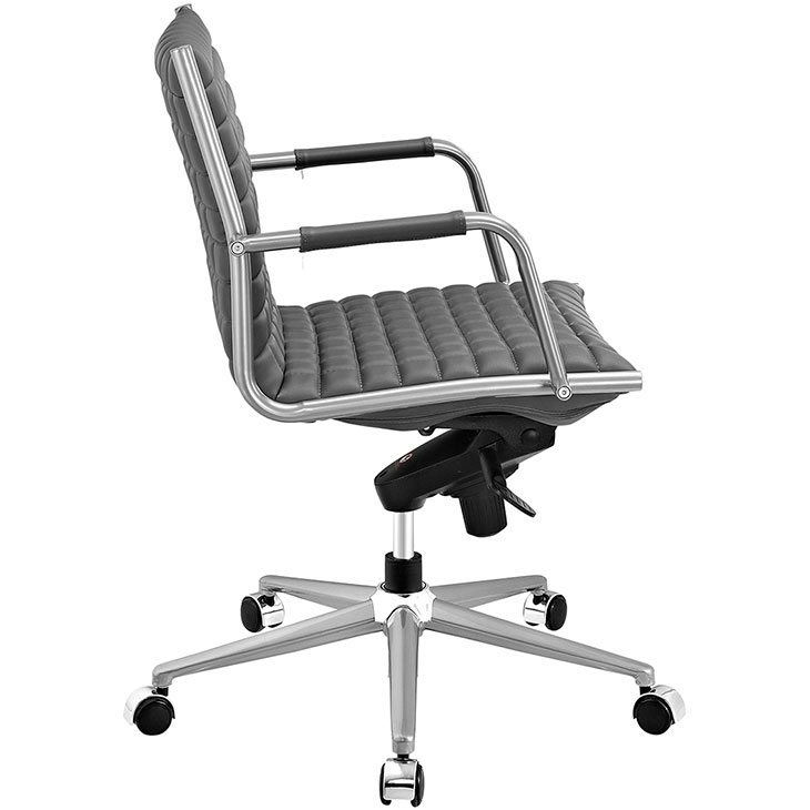 stock mid back office chair gray 2