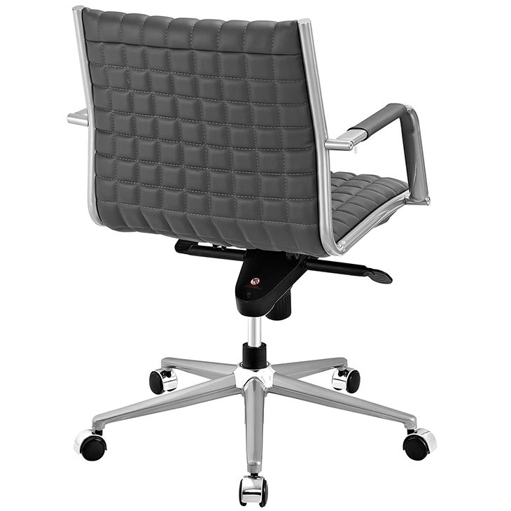 stock mid back office chair gray 3