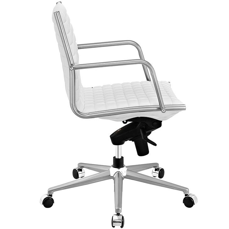 stock mid back office chair white 1