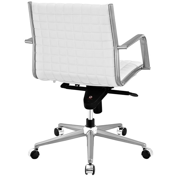 stock mid back office chair white 2
