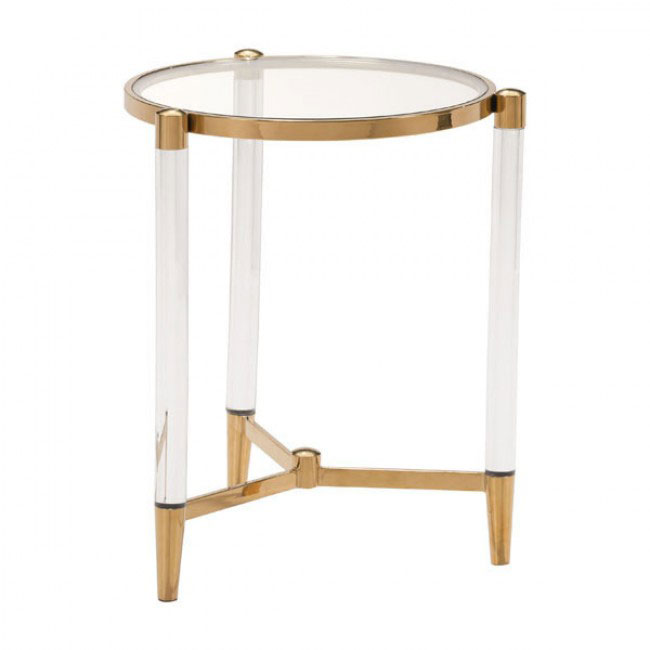 clear acrylic gold side table 1