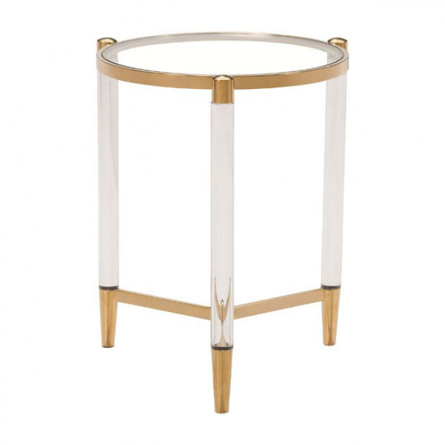 clear acrylic gold side table 3