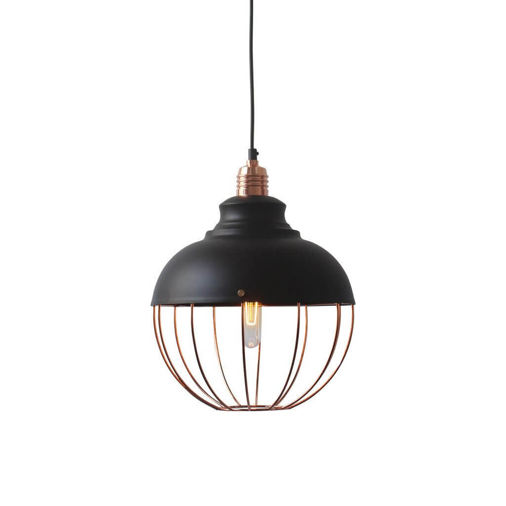copper spin pendant light 2
