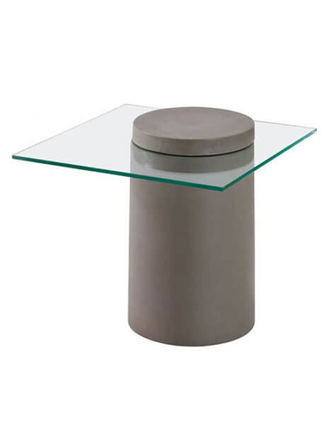 cylinder concrete side table