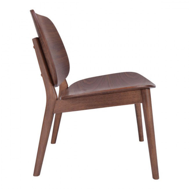 fleet walnut wood accent chair 2