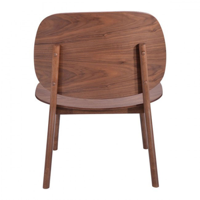 fleet walnut wood accent chair 3