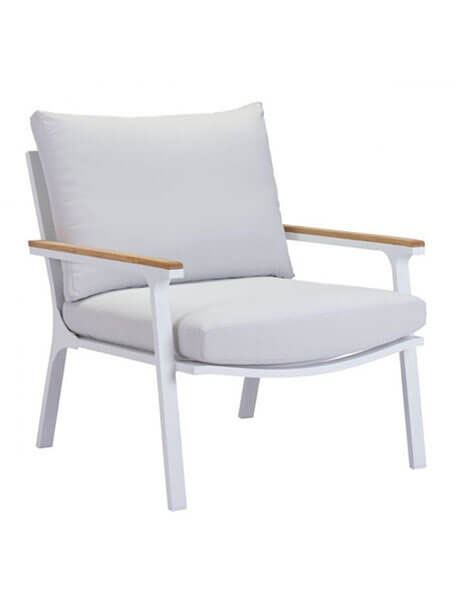 hills outdoor chair white