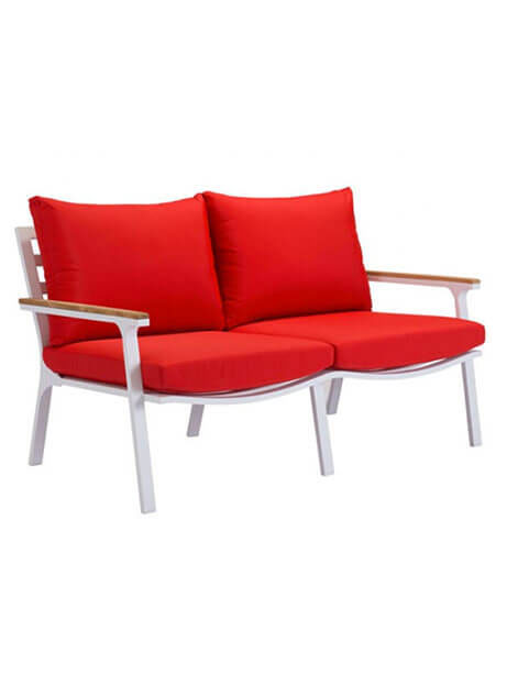 hills outdoor sofa red