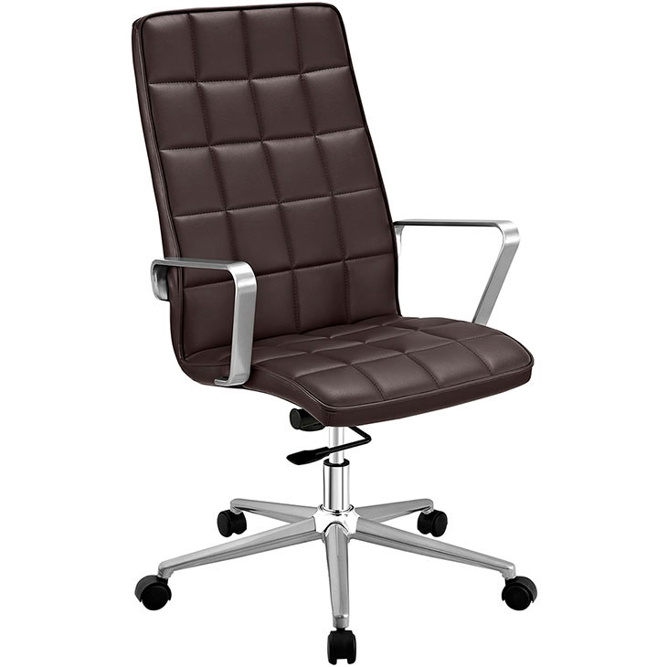 layout high back office chair brown 1