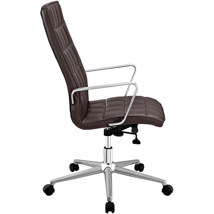 layout high back office chair brown 2