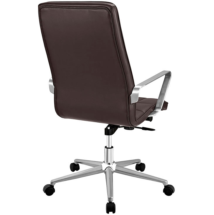 layout high back office chair brown 3