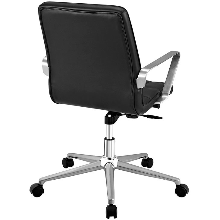 layout mid back office chair black 3