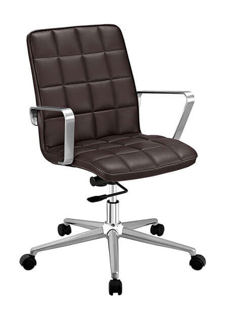 layout mid back office chair brown