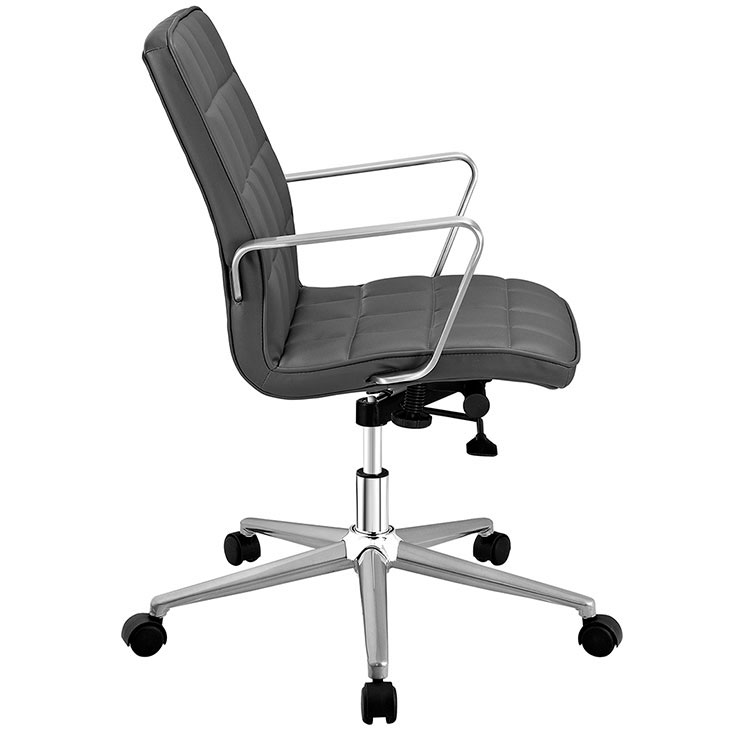 layout mid back office chair gray 2
