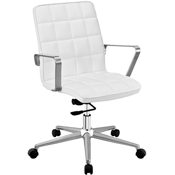 layout mid back office chair white 1