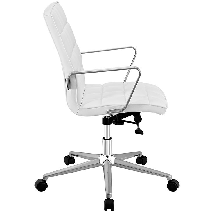 layout mid back office chair white 2