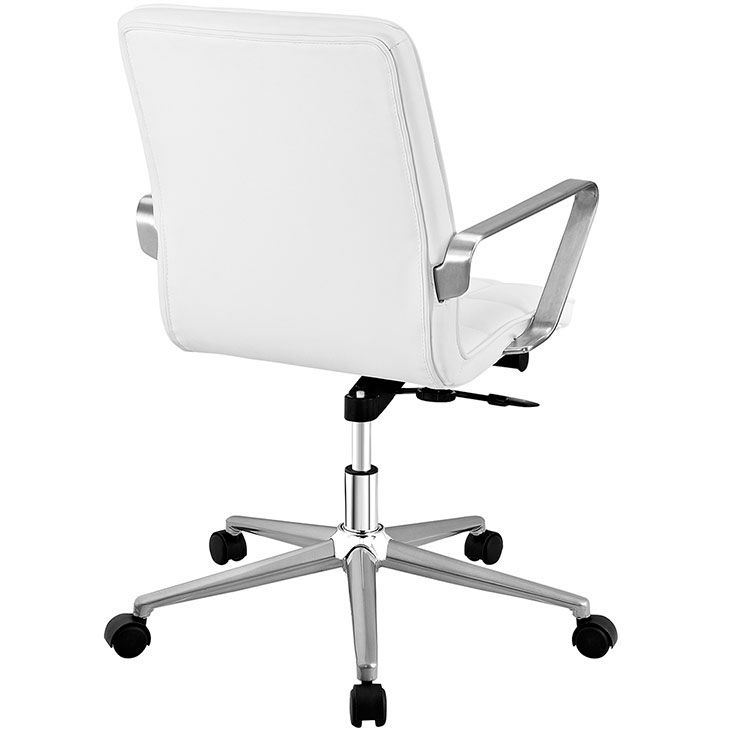 layout mid back office chair white 3