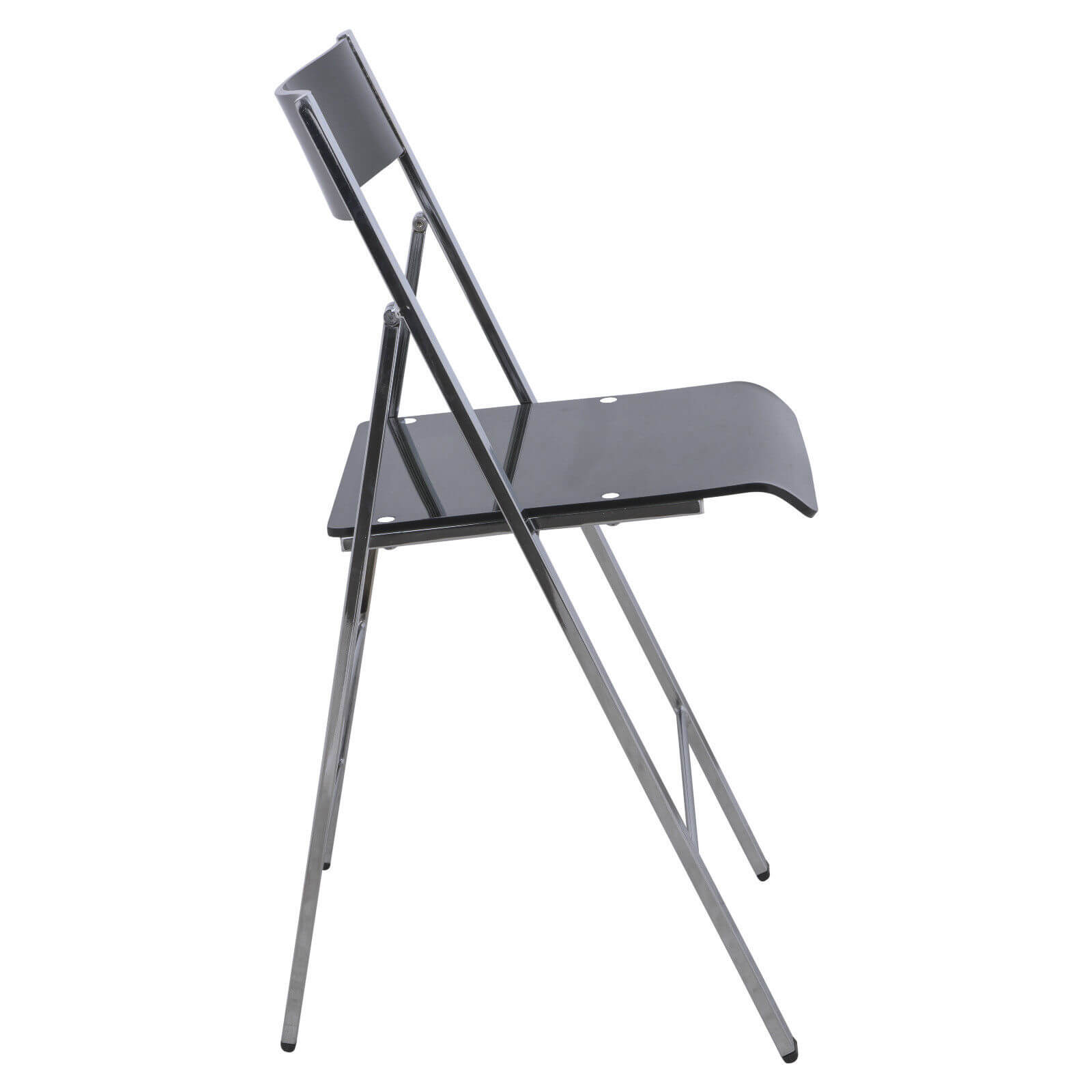 lucid clear black folding chair 3