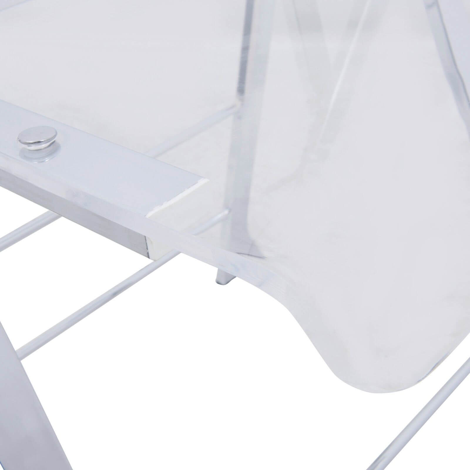 lucid clear folding chair 1