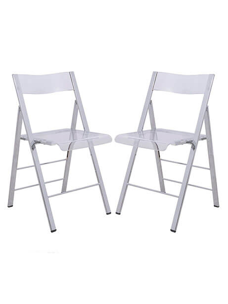lucid clear folding chair 2 1