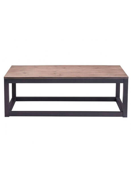 troop wood rectangular coffee table