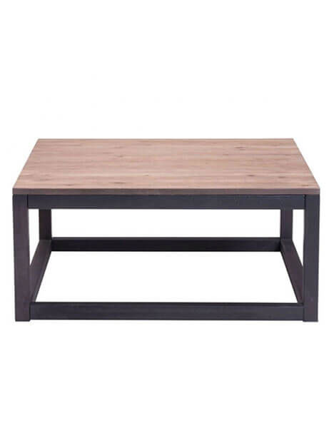 troop wood square coffee table