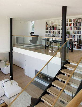 Loft living modern furniture house with open layout