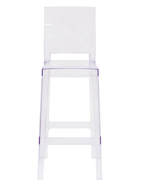 Clear Square Barstool
