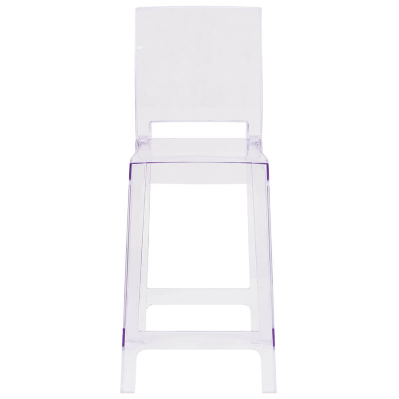 Clear square counter stool 1