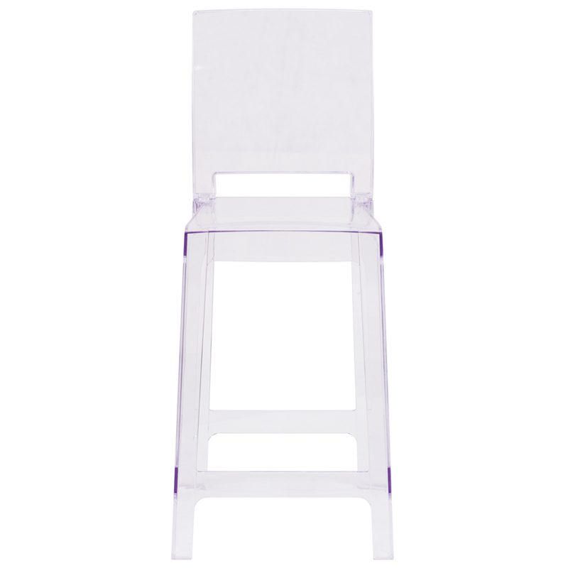 Clear square counter stool