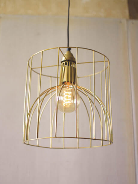 Gold Wire Mod Dome Pendant Light