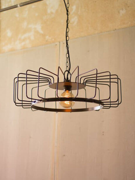 Round Wire Pendant Light