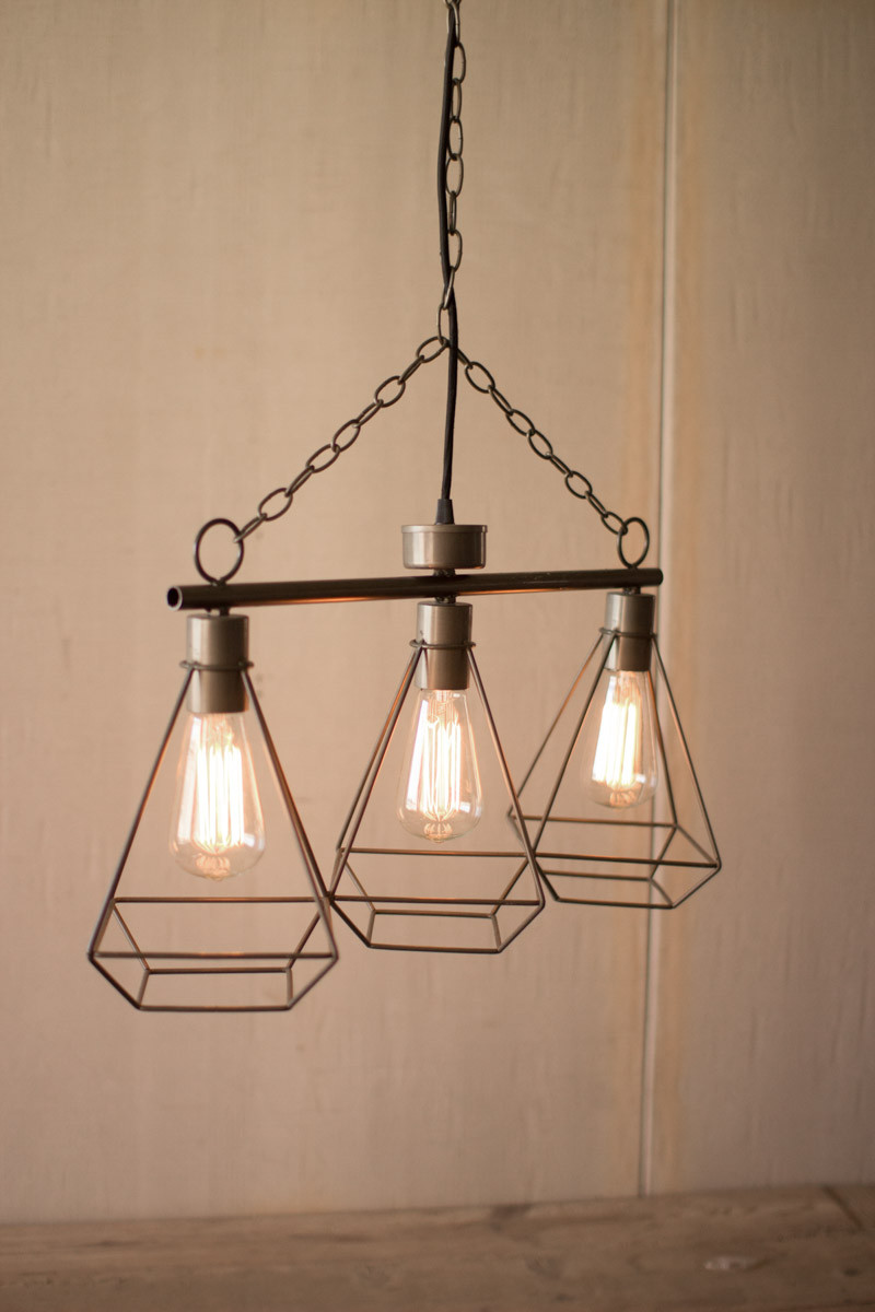 Wire Gem 3 Tier Pendant Light Modern Furniture