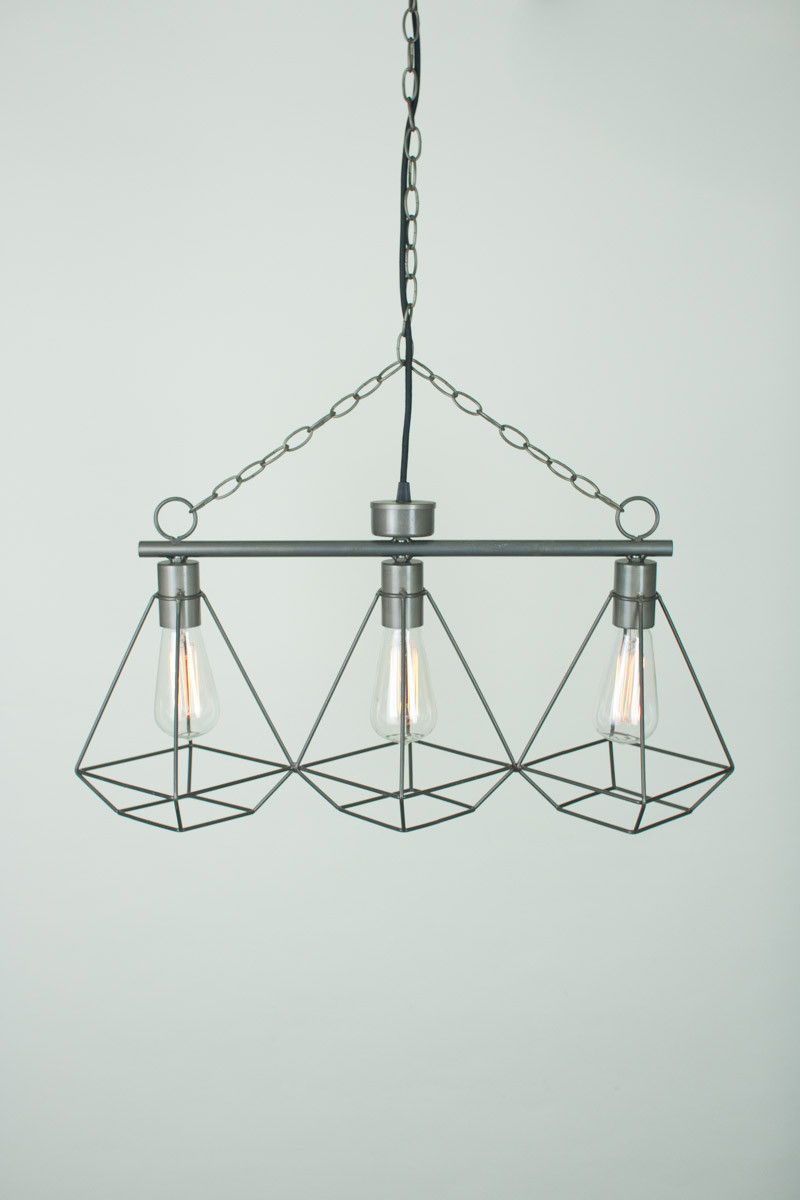 Wire Gem 3 Tier Pendant Light 2