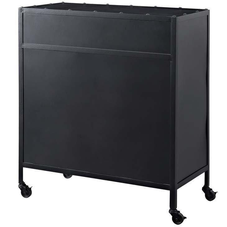 Black metal rolling cabinet 2