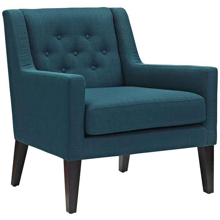 Den upholstered accent chair blue 4