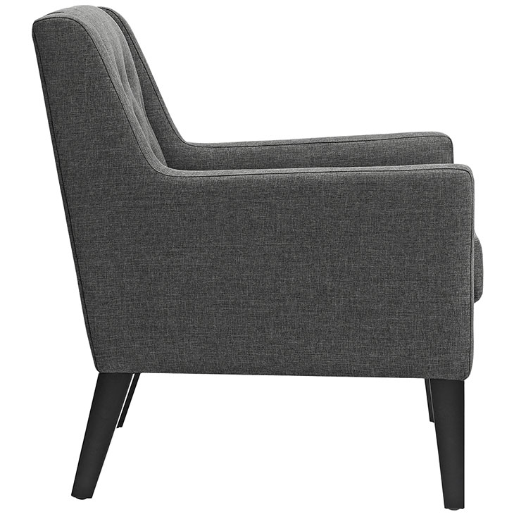 Den upholstered accent chair gray 2