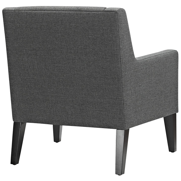 Den upholstered accent chair gray 3